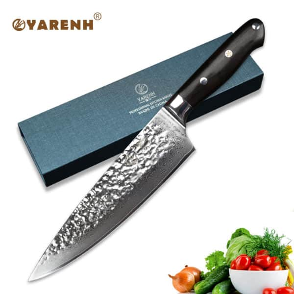 Yarenh 8.5 inch Professional Chef Knife Japanese Damascus Stainless Steel  Gyuto Knife best Kitchen Knives